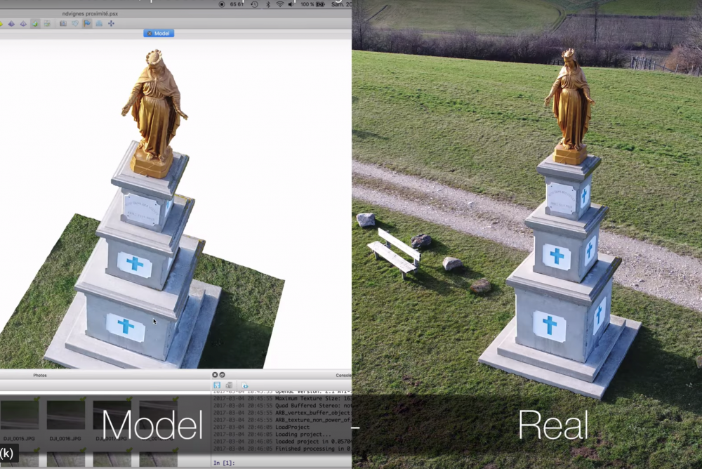 Sử dụng Drone tạo bản đồ 3D tượng đài