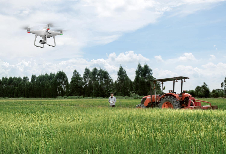 Máy bay khảo sát cây trồng nông nghiệp DJI Phantom 4 RTK